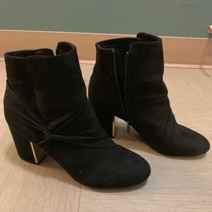 Report black ankle boots